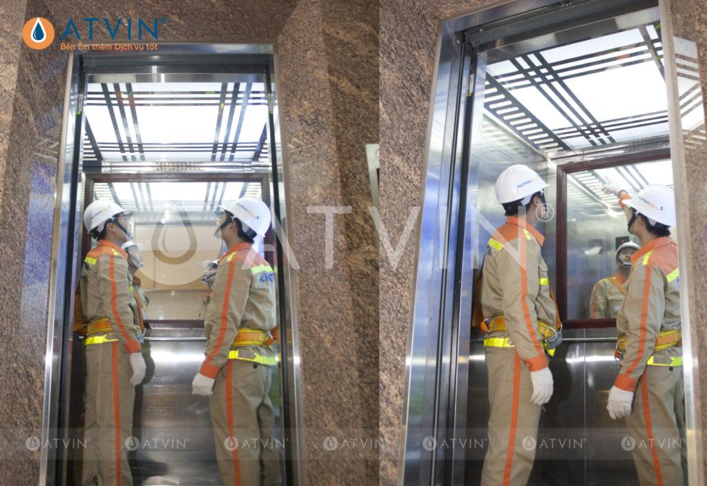 Đèn tầng và cabin thang máy bị cháy do bật tắt nhiều hoặc nguồn điện không ổn định