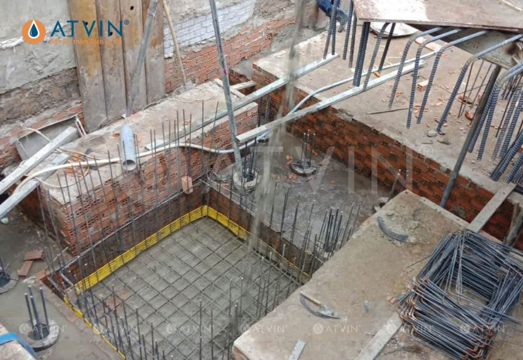 Thi công xây dựng hố PIT thang máy yêu cầu độ chính xác cao về kỹ thuật